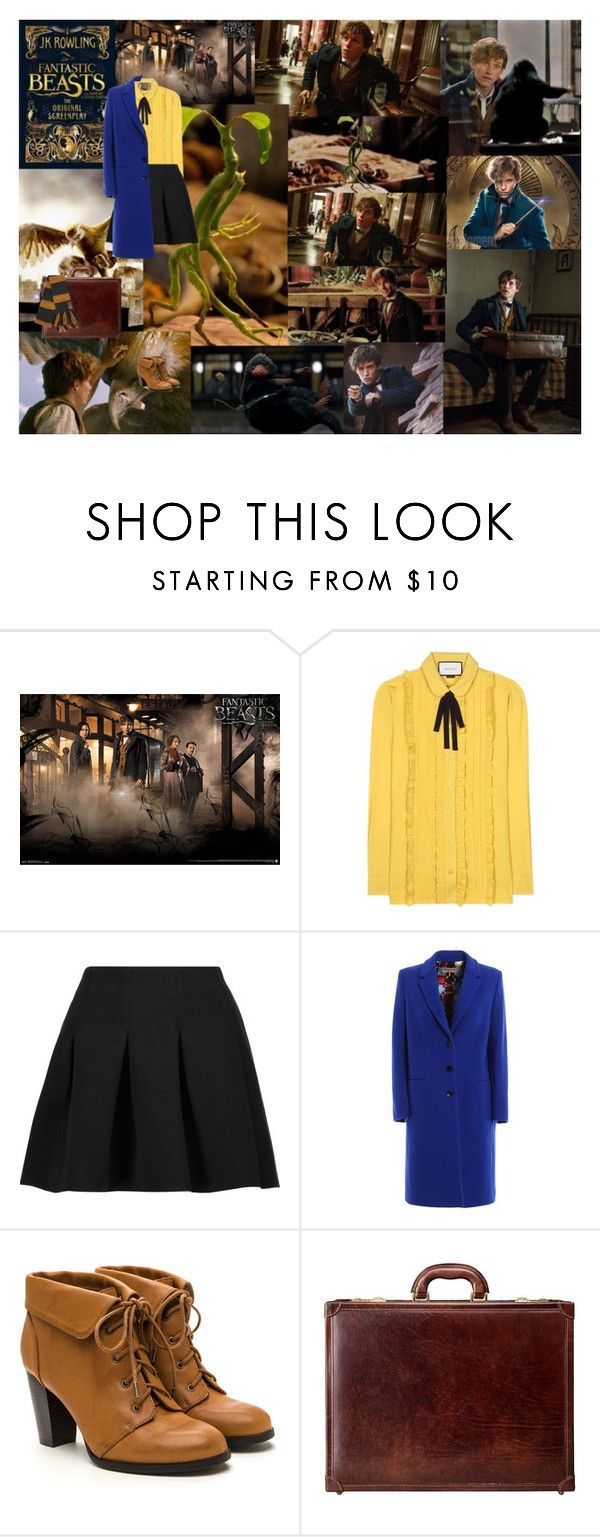 """""""fantastic beasts and where to find them"""" by kingkittykat123 ❤ liked on Polyvore featuring Gucci, T By Alexander Wang, Maxwell Scott Bags and Elope"""