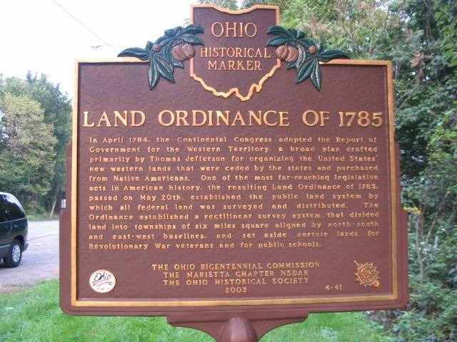 The Land Ordinance of 1785 - http://socialstudies.school/2015/10/16/the-land-ordinance-of-1785/
