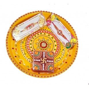 Rakhi Special Vishnu Pooja Thali Set with COD service  https://www.craftera.in/Rakhi-Special-Vishnu-Pooja-Thali-Set  Rakhi Special Vishnu Pooja Thali Set with impressive look. This thali is made of brass and it's a complete handmade item decorated and surrounded by golden touch making it more alluring.