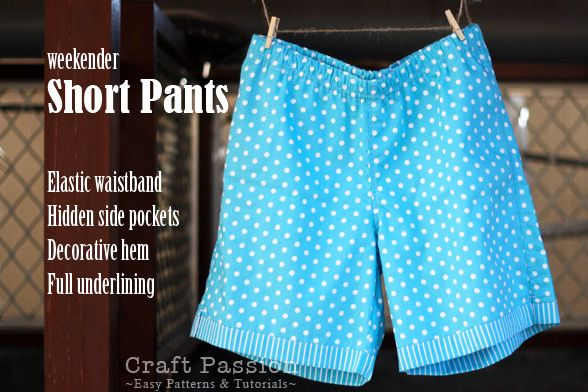weekend short pants pattern