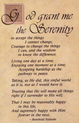 Free Printable Plain Serenity Prayer | Serenity prayer printable - Le Bruet Homepage