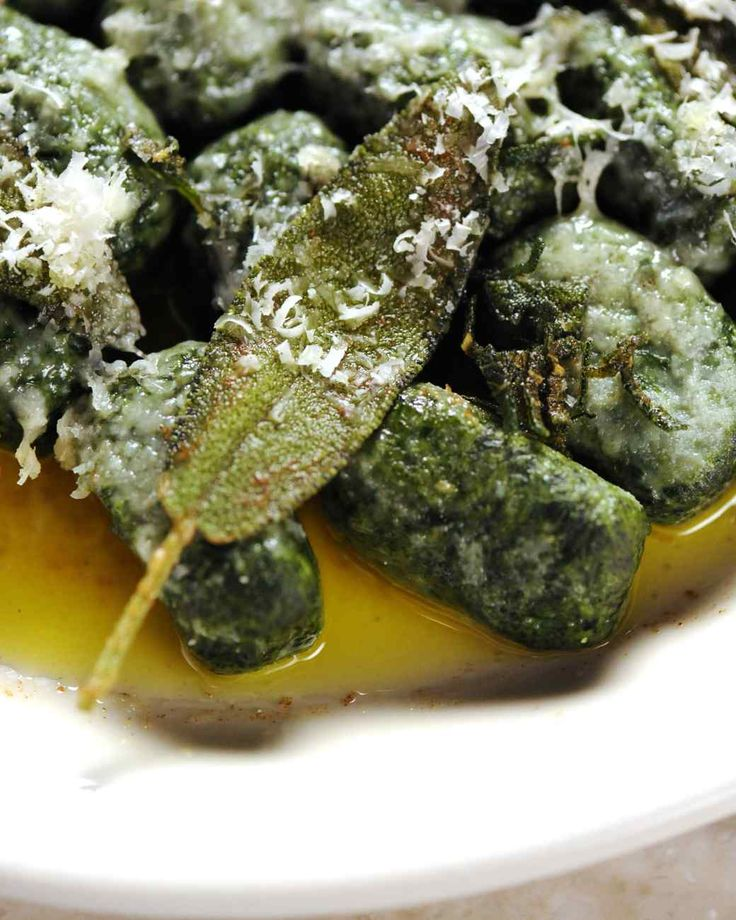 Spinach and Ricotta Gnudi with Sage Butter - Martha Stewart's Cooking School