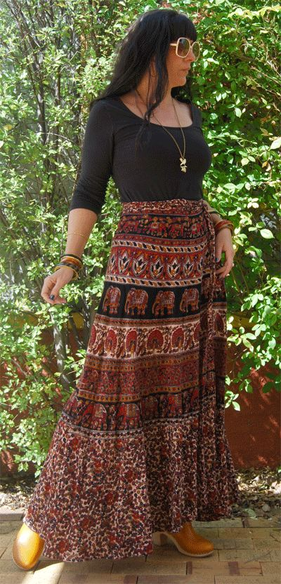 long indian wrap around skirts vintage vixen | Indian Wrap Skirts Vintage Wrap Around Indian