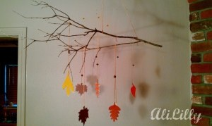 AliLily – Fall Branch Paint-chip Mobile