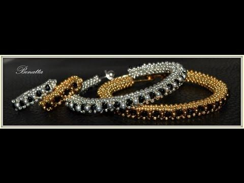 Beading4perfectionists : Stitch nr 6: Cubic Right Angle Weave (CRAW) bracelet beading tutorial - YouTube
