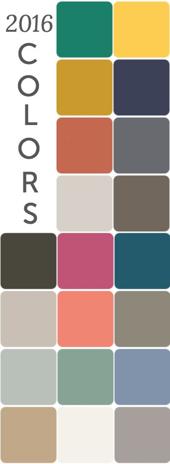 2016 contrasting color trends - Home Decor Color Palettes