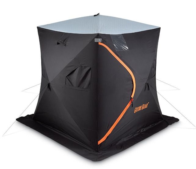3 Person Thermal Insulated Ice Fishing Tent Shelter Shanty Weatherproof, 6' x 6' #GuideGear