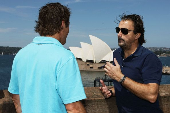 Pat Cash and Henri Leconte - Champions Down Under Media Session