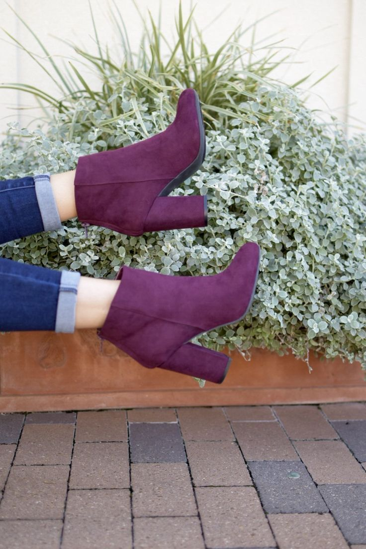Purple Ankle Boots Booties