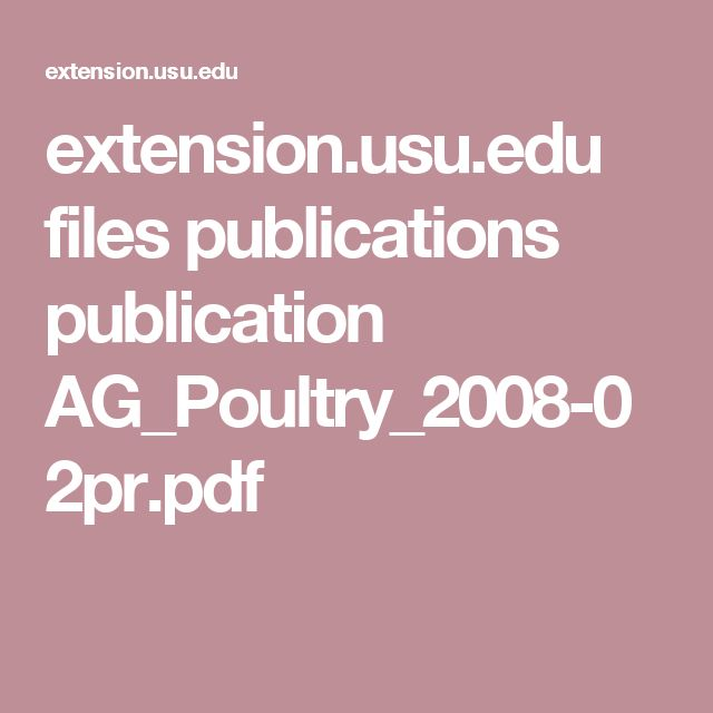 extension.usu.edu files publications publication AG_Poultry_2008-02pr.pdf