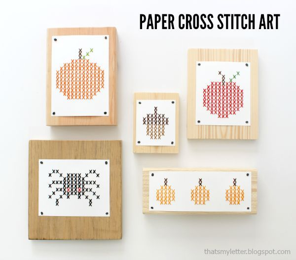 That's My Letter: Paper Cross Stitch for Fall (free printable):