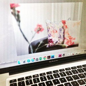 Sneak peek behind the scenes: Editing product shots of our Floral Paradise cushions. Each pattern is inspired by nature and aims to bring a piece of the garden inside. We will reveal the opening date of the online shop in the coming weeks! 🌸🌷🌺🍁