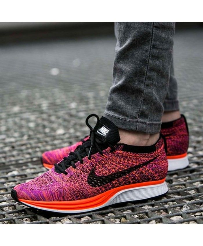 db78a592f4115 Nike Flyknit Racer Trainers In Acai Berry