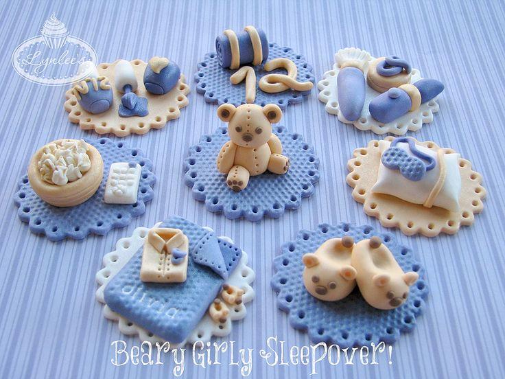 Más tamaños   Beary Girly Sleepover Cupcake Toppers   Flickr: ¡Intercambio de fotos!