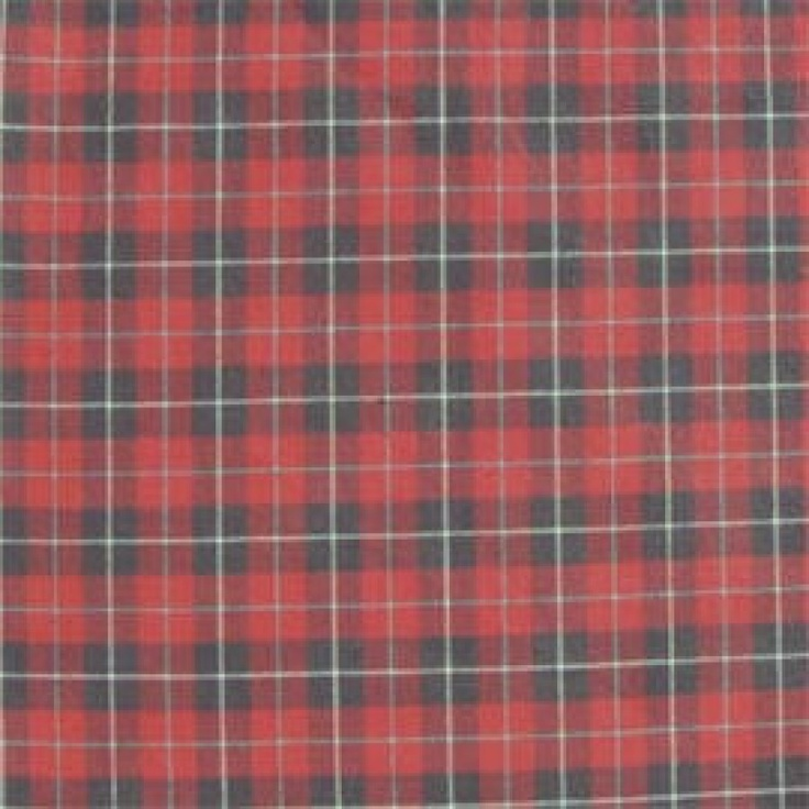patch magic red and black plaid white lines bed curtain