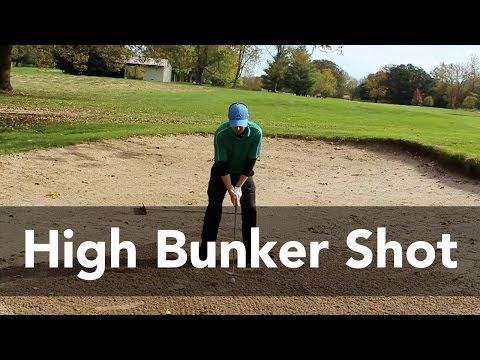 Golf Video Tip: Hitting a High Soft Bunker Shot - YouTube