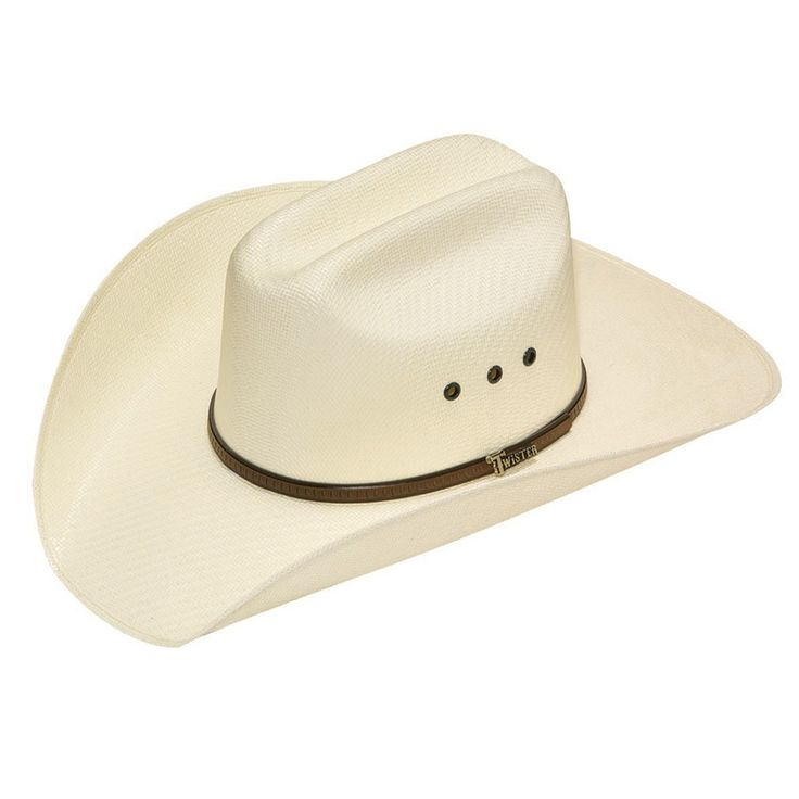 80246c6c4d2 Twister Mens 5X Shantung Double S Straw Cowboy Hat