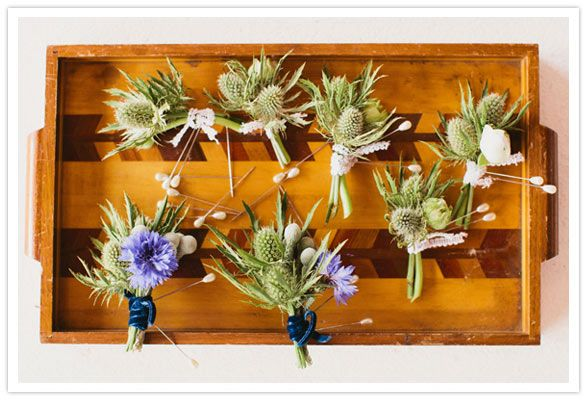 Boutonnieres by Landish :: YEAH! Weddings #melceylove