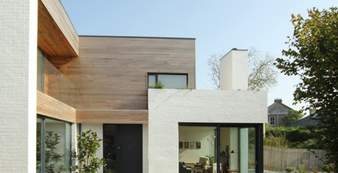 I just love this look. I watched this house being built on the Grand Designs UK show..