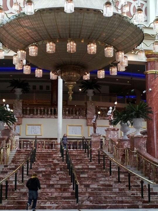 Grand staircase into Trafford centre