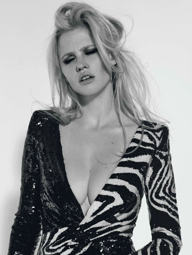 Lara Stone for L'Express Styles September 2015 - Saint Laurent