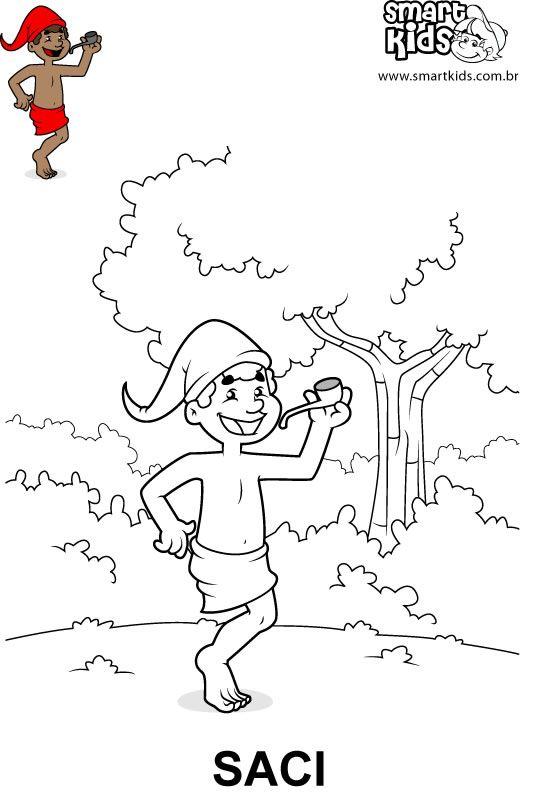 Desenhos para imprimir, colorir e pintar Folclore: Saci Pererê, Cuca, Boi Bumbá, Mula Sem Cabeça, Curupira, Negrinho do Pastoreiro, entre outros.