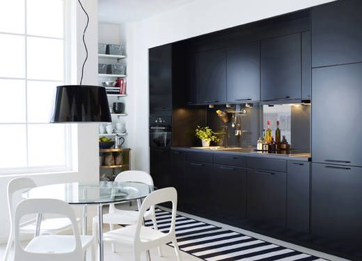 ikea k che faktum in schwarz k che pinterest k che einrichtungsideen und weiss. Black Bedroom Furniture Sets. Home Design Ideas