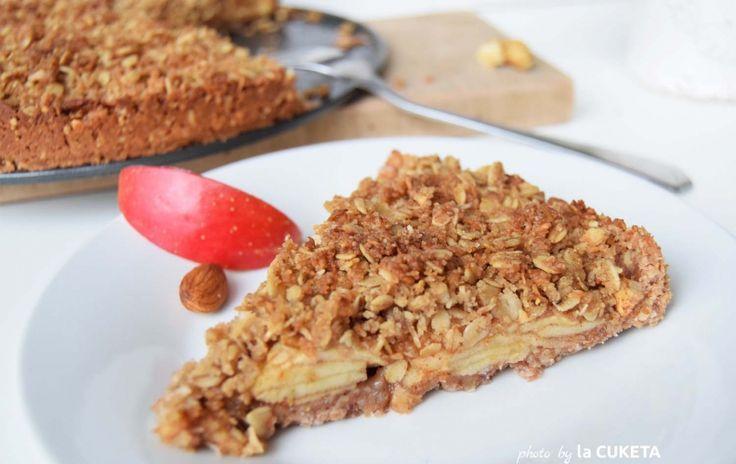Křupavý veganský jablečný koláč z vloček