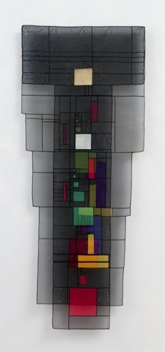 """Contemporary Bojagi by Leonie Castelino - from """"Homage to Klee"""" exhibit at Museum of Craft and Fok Art in SF"""