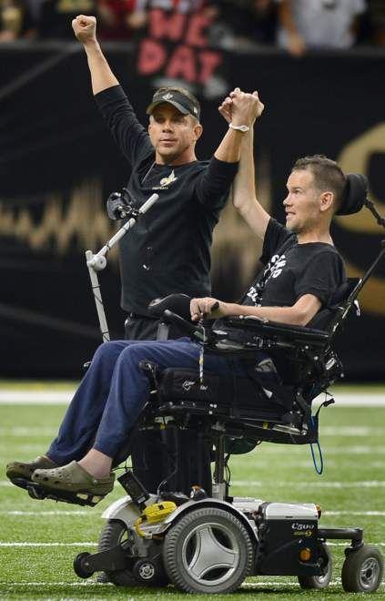 Sean Payton and Steve Gleason... Saints VS Falcons 9/8/13