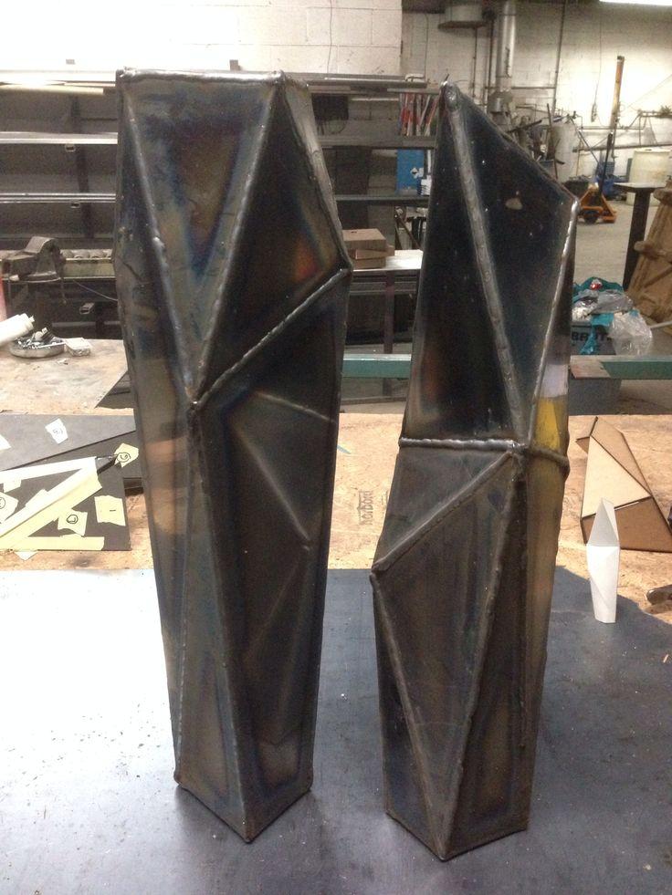 Weld laser cut facets together