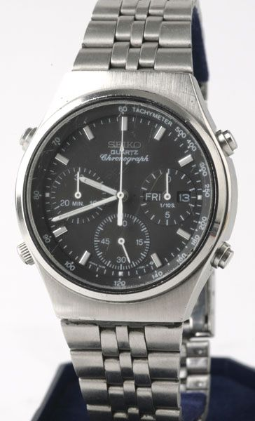 photo of seiko-quartz-chronograph-7A38-7270 front view