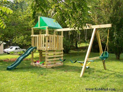 Best 25 kids wooden playhouse ideas on pinterest wooden for Child swing plans free