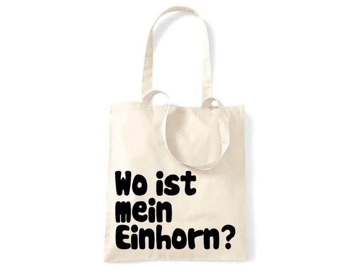 Jutebeutel Wo Ist Mein Einhorn? von CIRCULAR auf DaWanda.com