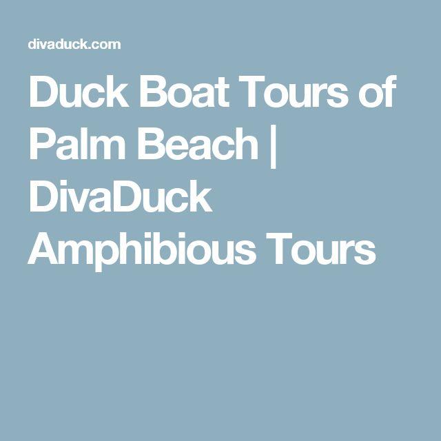 Duck Boat Tours of Palm Beach | DivaDuck Amphibious Tours