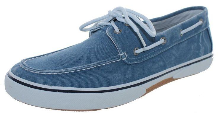 Sperry Top-Sider Men's Halyard 2-Eye Boat Shoes Blue Size 13.0M