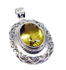 splendiferous Lemon Quartz 925 Sterling Silver Yellow Pendant exporter US gift