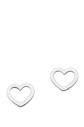 Karen Walker Mini Heart Stud Earrings