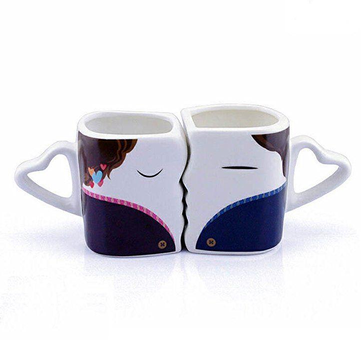 Kussende Tassen Set Partnertasse Liebestasse Paar Tassen Mit