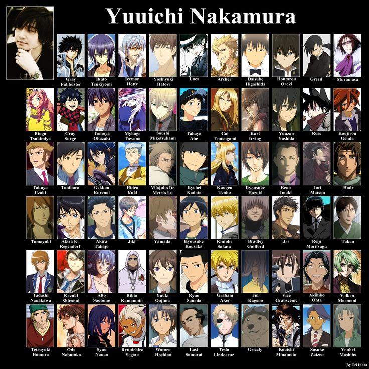 Gray Fullbuster (Fairy Tail), Muramasa (Bleach), Gray Surge (Fairy Tail), Ikuto (Shugo Chara), Tomoya Okazaki (Clannad)