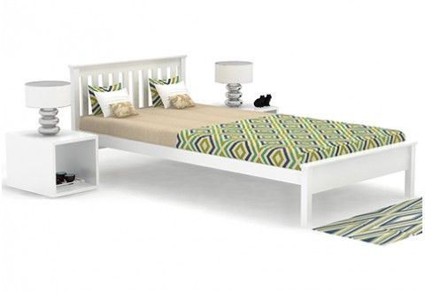 Venus Single Bed (White Finish)