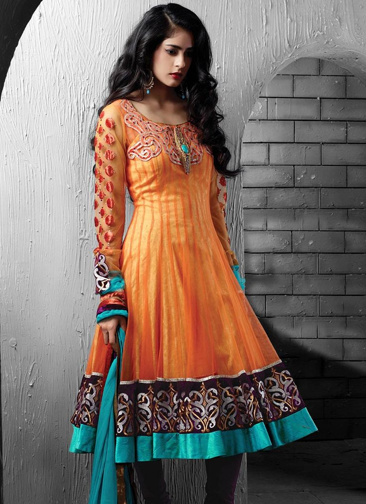 $241 Gorgeous Net Anarkali Suit