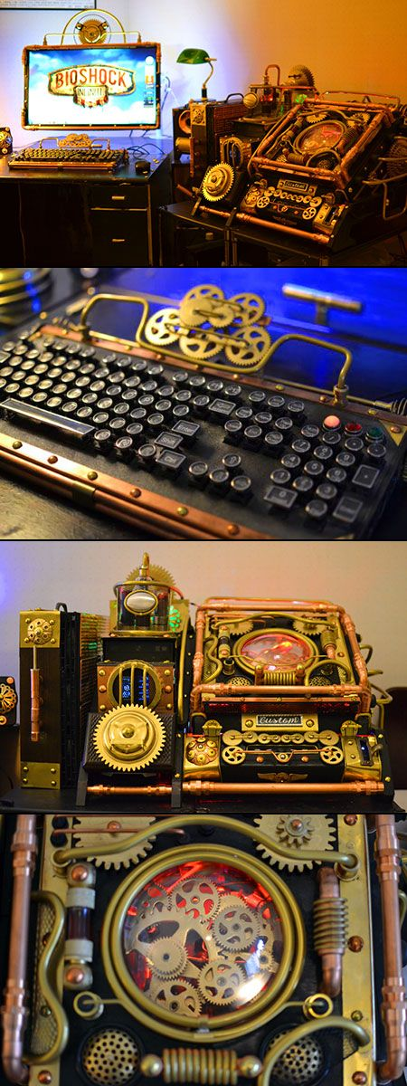 Custom BioShock Infinite Steampunk PC Case Mod Might Be Coolest Ever - TechEBlog