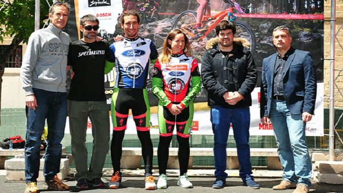 Pedro Romero y Rocío Martín que se ha impuesto en la última etapa y se han proclamado vencedores absolutos en su primera participación en la Imperial Bike Tour by Ford.
