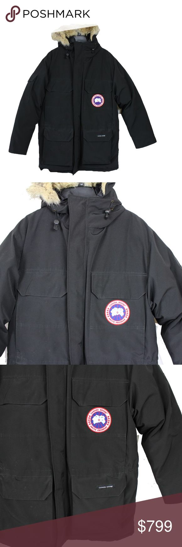Canada Goose Expedition Parka Medium Extreme 10/10 Perfect Condition Canada Goose Expedition Parka. 624 Fill Power Down, Coyote Fur Ruff, Fleece lined, Cool patches, 6 exterior pockets, handwarmer pockets, waist drawcords, mid waistand elasacized snow skirt. These are for extreme temperatures and used by scientists. Worn only a few times and just have some fluff stuck to the Velcro, in which I will remove before shipping :) Please do not hesitate to ask any questions about this! Fits True To…