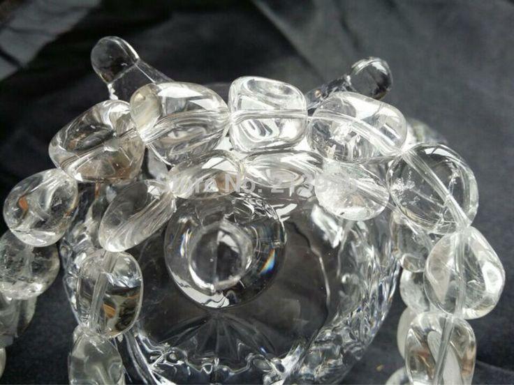 (Минимальный заказ $10) 1 Strand/Уп 100% Белый Природный Камень Кристалл Кварца Пряди полудрагоценных каменные Украшения Из Бисера Бусы