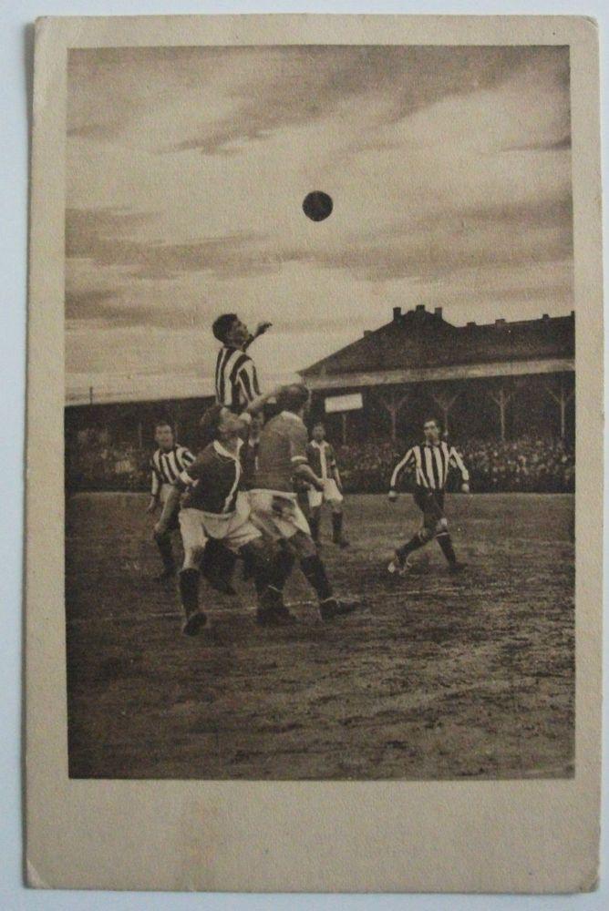 1913 Sunderland V Ferencvaros RARE Postcard