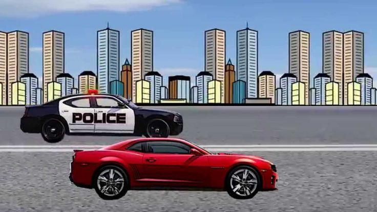 Мультфильм. Машинки. Полицейская погоня. Уличные гонки