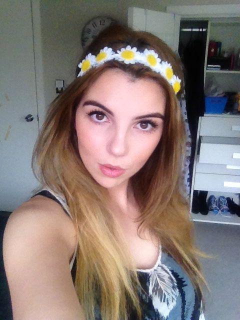 Floral makeup and neutral makeup