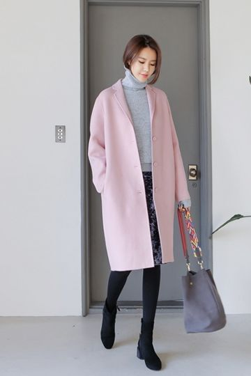 Deel Wool Coat | Korean Fashion